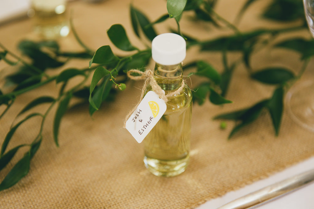 Mini Bottle Favours Damerham Village Hall Wedding Lisa-Marie Halliday Photography