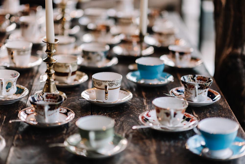 Tea Cups Dewsall Court Wedding Oobaloos Photography
