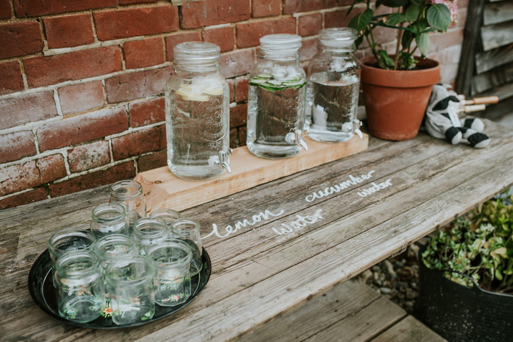 Water Dispensers Drinks Table Edwardian Inspired Wedding Daniel Ackerley Photography