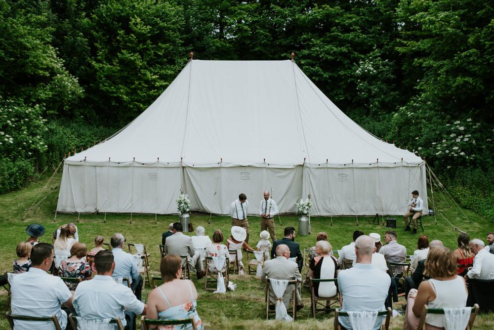 Outdoor Ceremony Marquee Edwardian Inspired Wedding Daniel Ackerley Photography