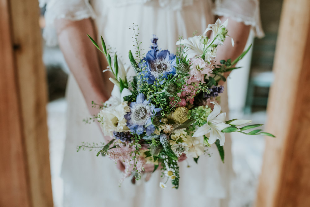 Wildflower Meadow Bouquet Bride Bridal Edwardian Inspired Wedding Daniel Ackerley Photography