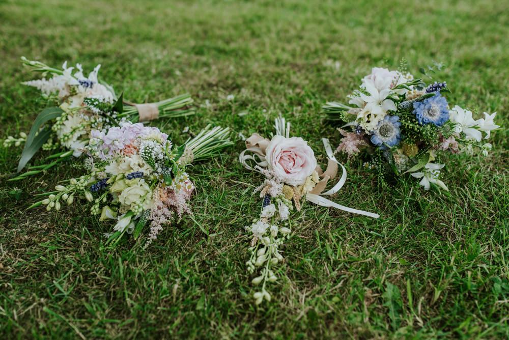 Natural Wildflower Bouquet Bride Bridal Edwardian Inspired Wedding Daniel Ackerley Photography