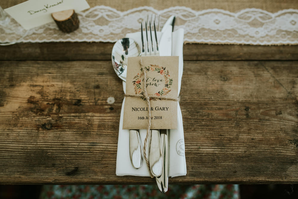 Wildflower Seeds Favour Burlap Hessian Lace Table Runner Edwardian Inspired Wedding Daniel Ackerley Photography