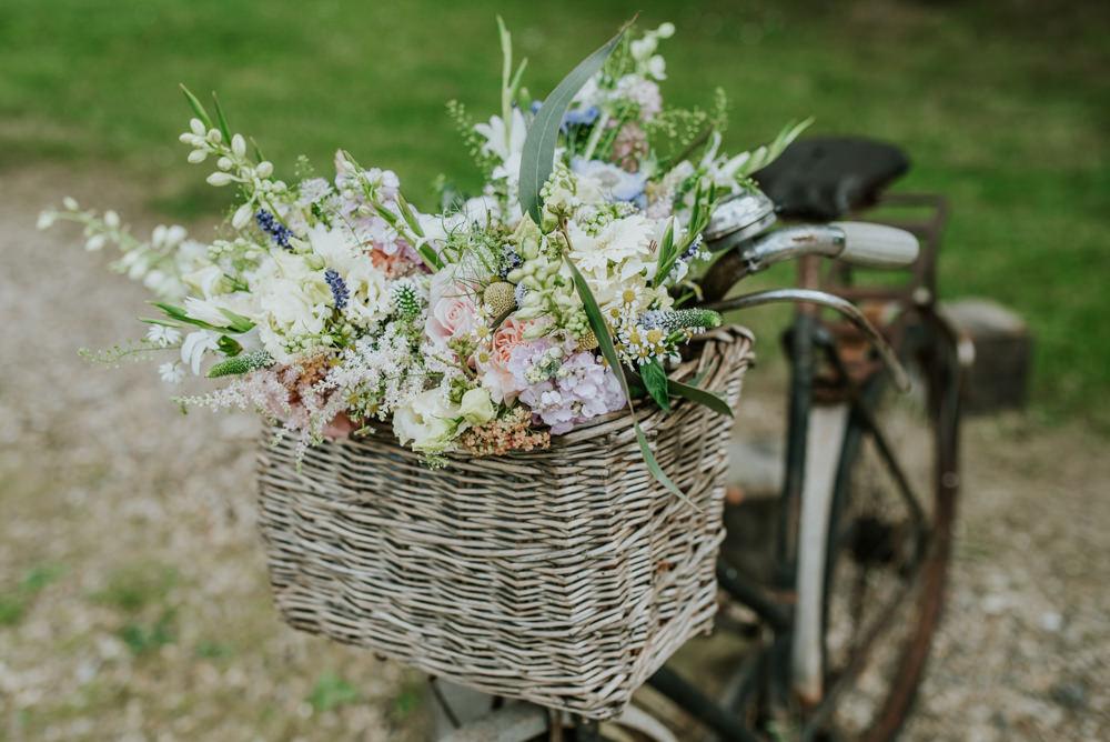 Bicycle Basket Wildflowers Meadow Floral Edwardian Inspired Wedding Daniel Ackerley Photography