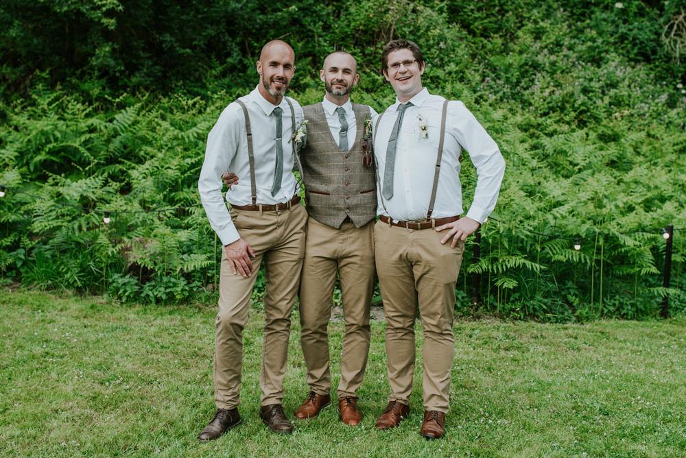 Tweed Waistcoat Braces Chinos Groom Groomsmen Edwardian Inspired Wedding Daniel Ackerley Photography