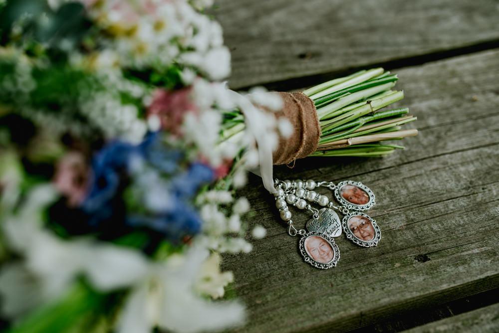 Memory Locket Bouquet Wildflower Edwardian Inspired Wedding Daniel Ackerley Photography