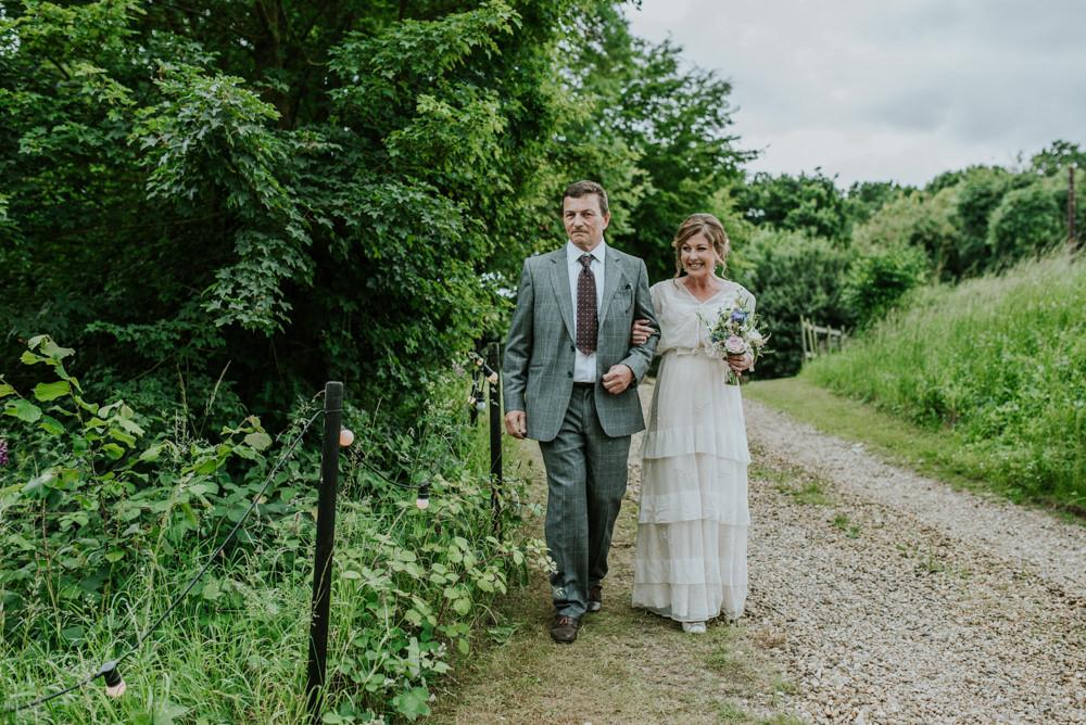 Bride Bridal Vintage Dress V Neck Sleeves Layered Edwardian Inspired Wedding Daniel Ackerley Photography
