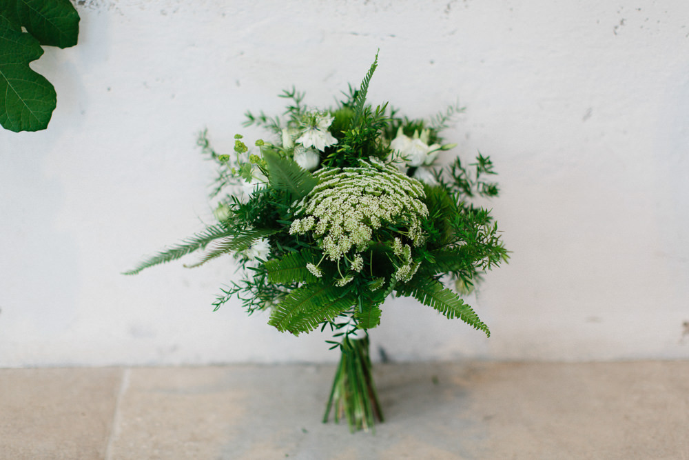 Greenery Bouquet Parsley Garden Ceremony Wedding Melissa Beattie Photography