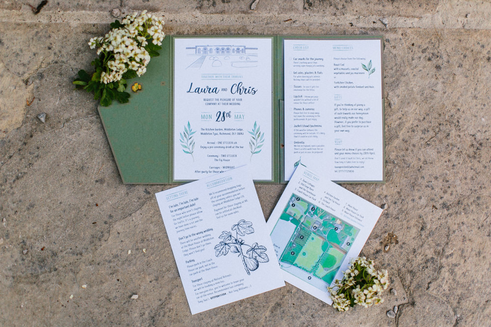 Stationery Green Garden Ceremony Wedding Melissa Beattie Photography