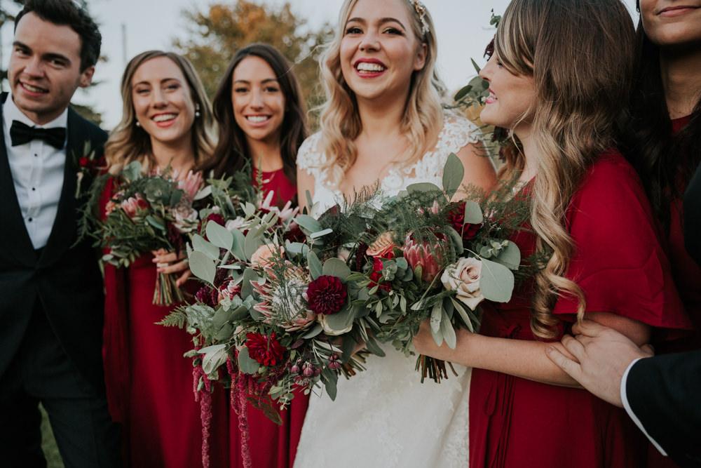 Bride Bridal Bridesmaids Greenery Eucalyptus Dahlia Rose Bouquet Gaynes Park Wedding Kate Gray Photography