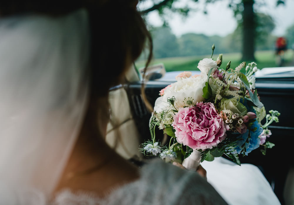 Bouquet Flowers Bride Bridal Pink Peony Peonies Holkham Hall Wedding Luis Holden Photography