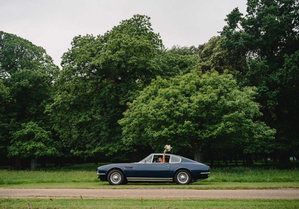 Classic Car Transport Holkham Hall Wedding Luis Holden Photography