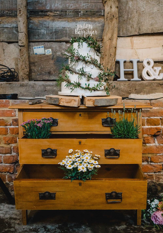 Furniture Dresser Cake Table Holkham Hall Wedding Luis Holden Photography