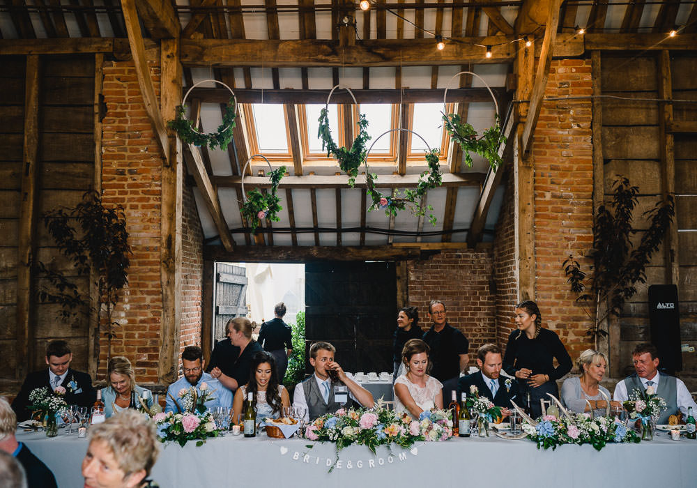 Top Table Greenery Hoop Backdrop Holkham Hall Wedding Luis Holden Photography