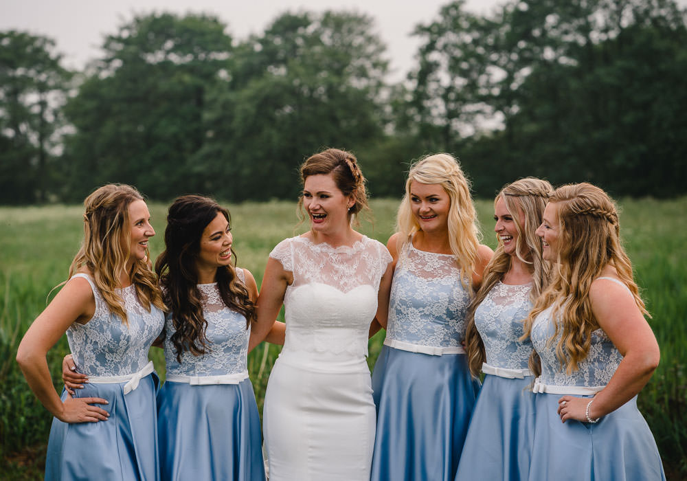 Blue Lace Bridesmaid Dress Dresses Bridesmaids Holkham Hall Wedding Luis Holden Photography
