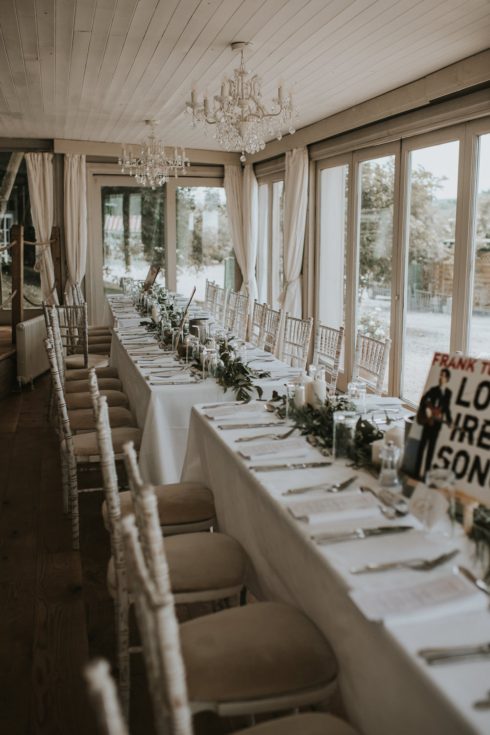 Long Tables Greenery Foliage Swags Garlands Millhouse Wedding Louise Scott Photography