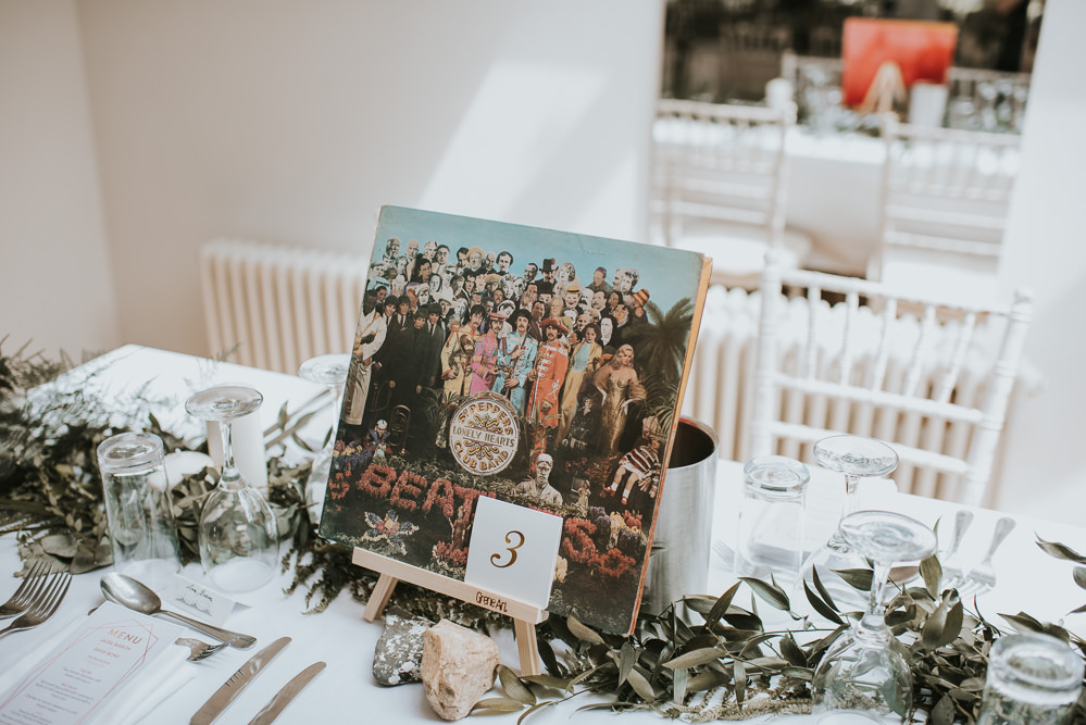 Records Music Table Names Millhouse Wedding Louise Scott Photography