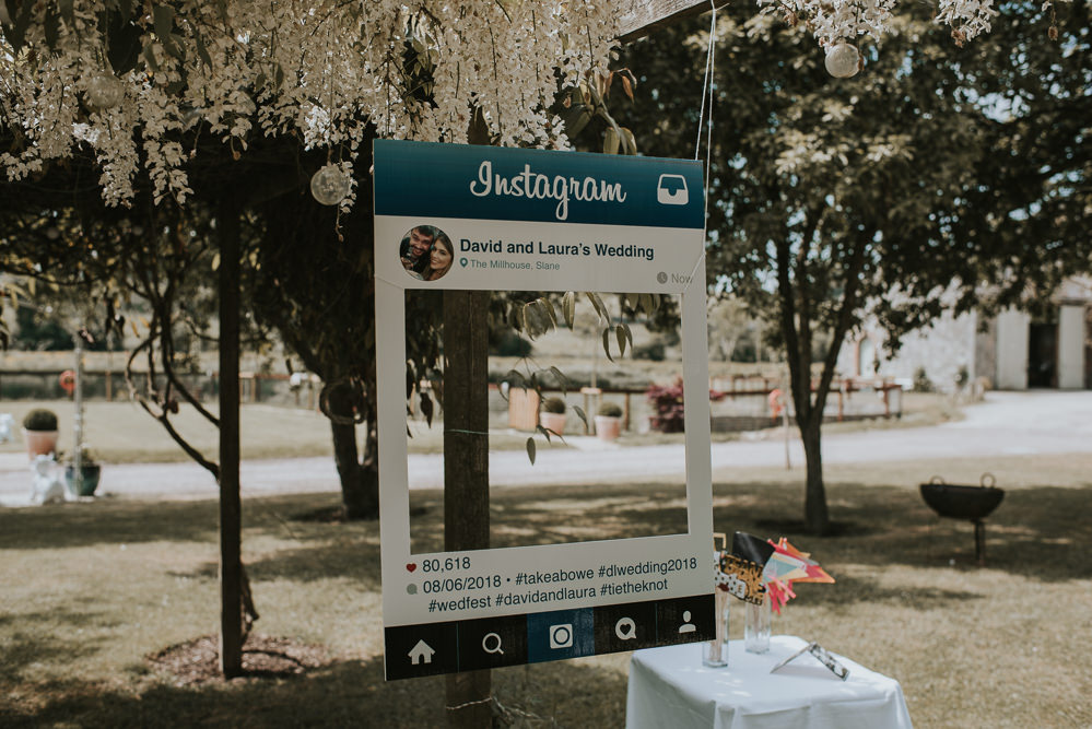 Instagram Cut Out Photo Booth Millhouse Wedding Louise Scott Photography