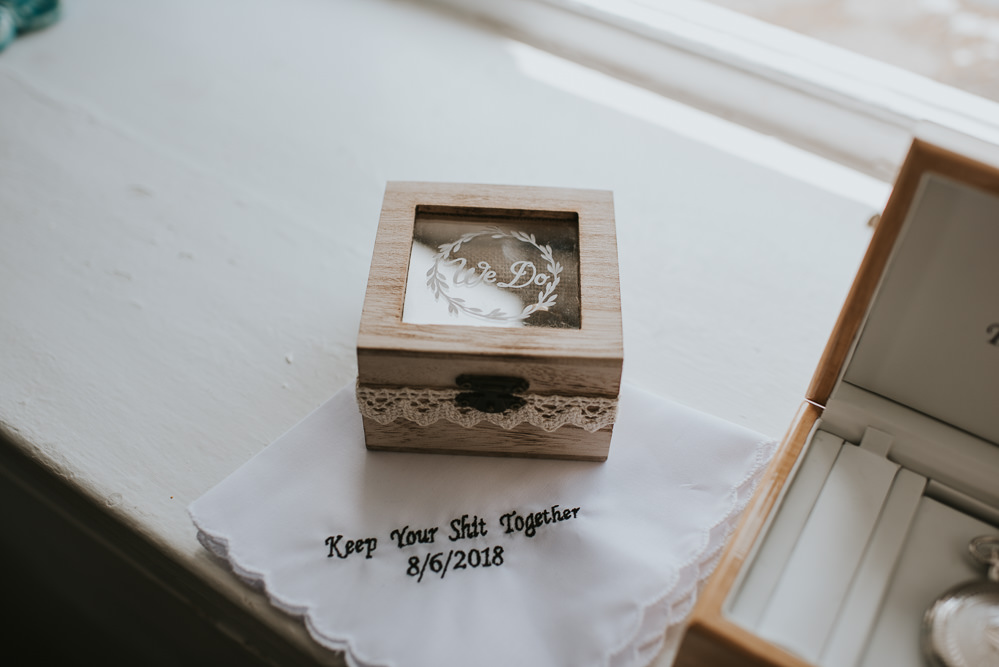Ring Box Handkerchief Millhouse Wedding Louise Scott Photography