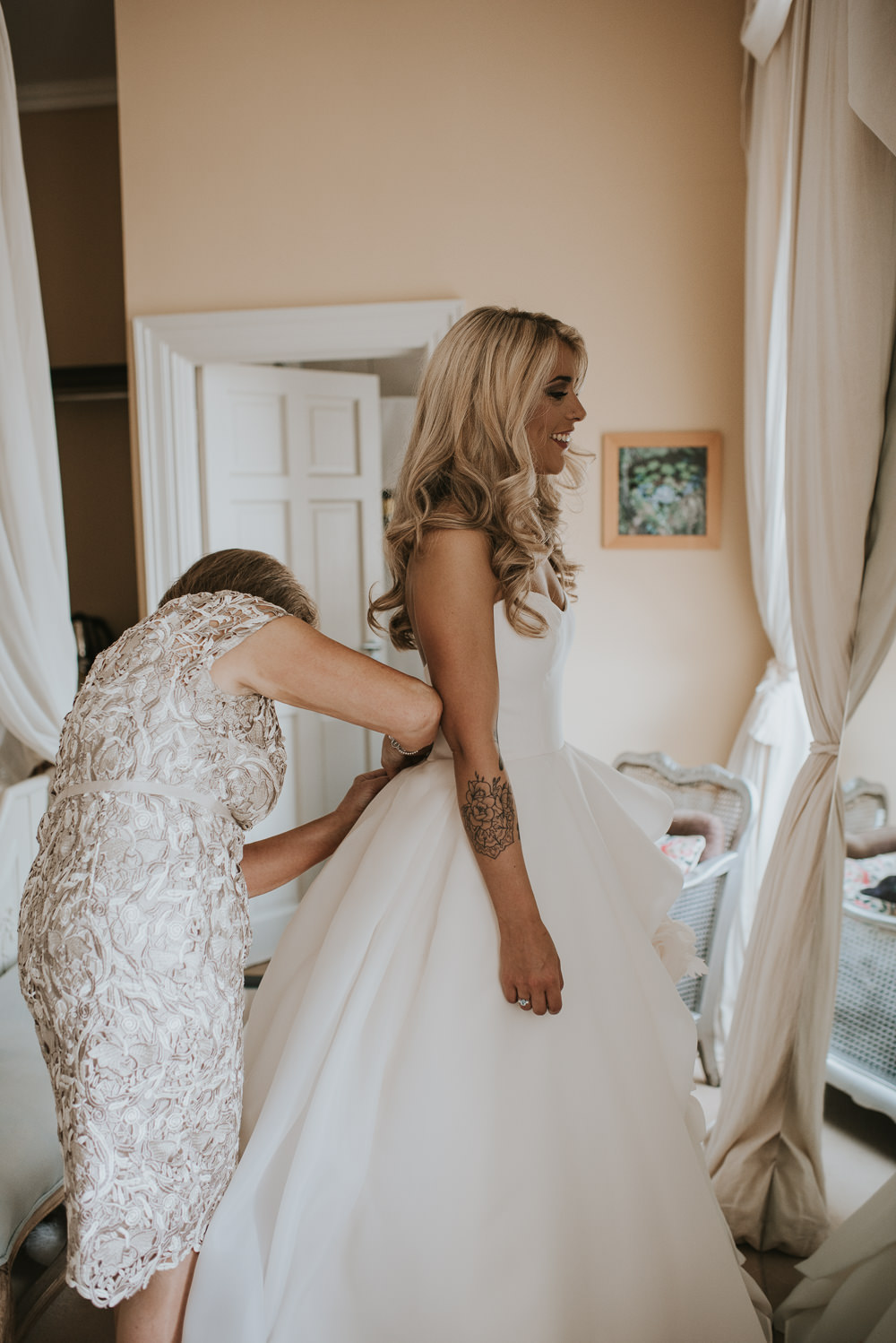 Dress Gown Bride Bridal Strapless Sweetheart Maggie Sottero Princess Millhouse Wedding Louise Scott Photography