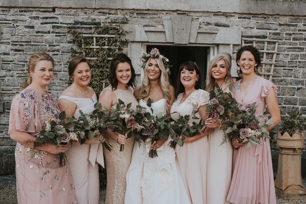 Bridesmaids Bridesmaid Dress Dresses Pink Blush Millhouse Wedding Louise Scott Photography