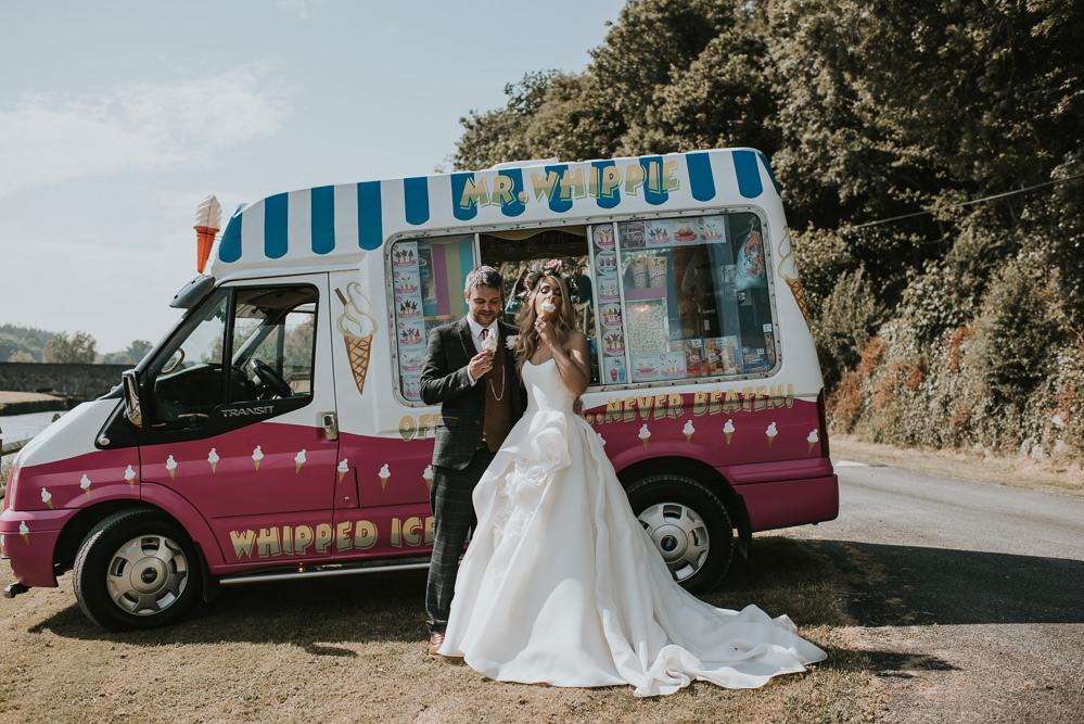Ice Cream Van Truck Millhouse Wedding Louise Scott Photography