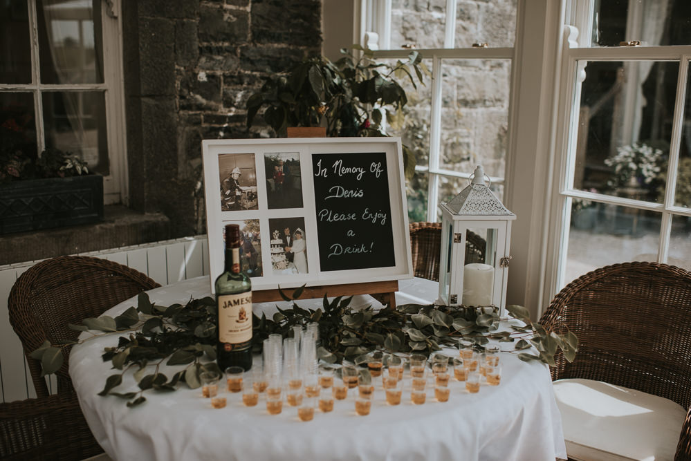 Remember Memory Table Millhouse Wedding Louise Scott Photography