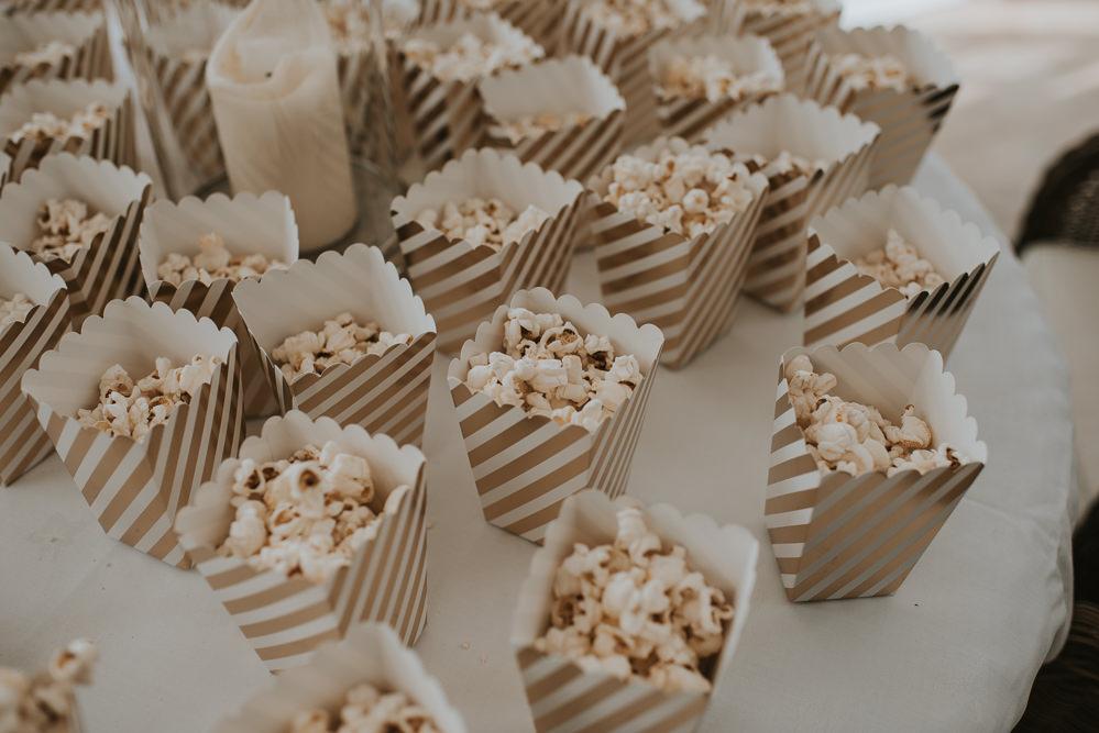 Popcorn Stand Station Millhouse Wedding Louise Scott Photography