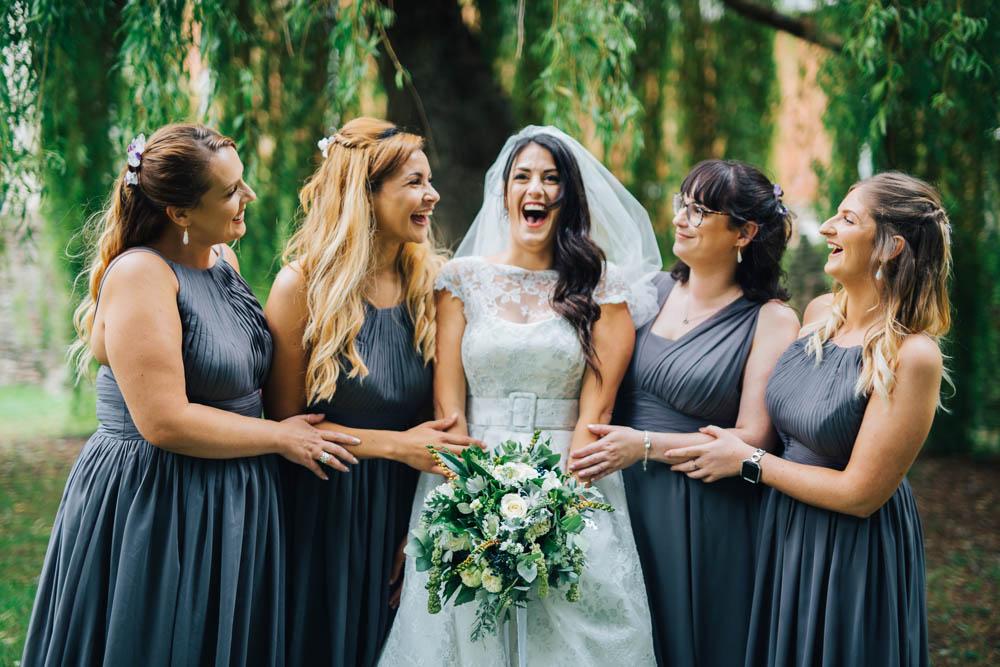 Grey Bridesmaid Dress Dresses Bridesmaids Monmouth Priory Wedding Loveseen Photography