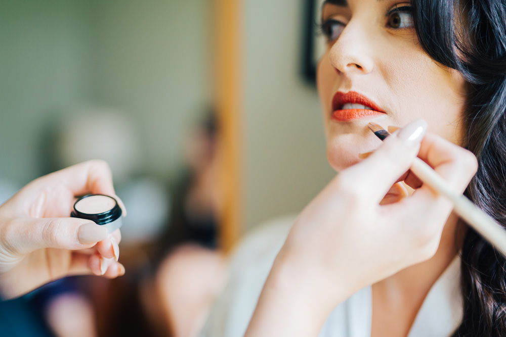 Bride Bridal Make Up Monmouth Priory Wedding Loveseen Photography