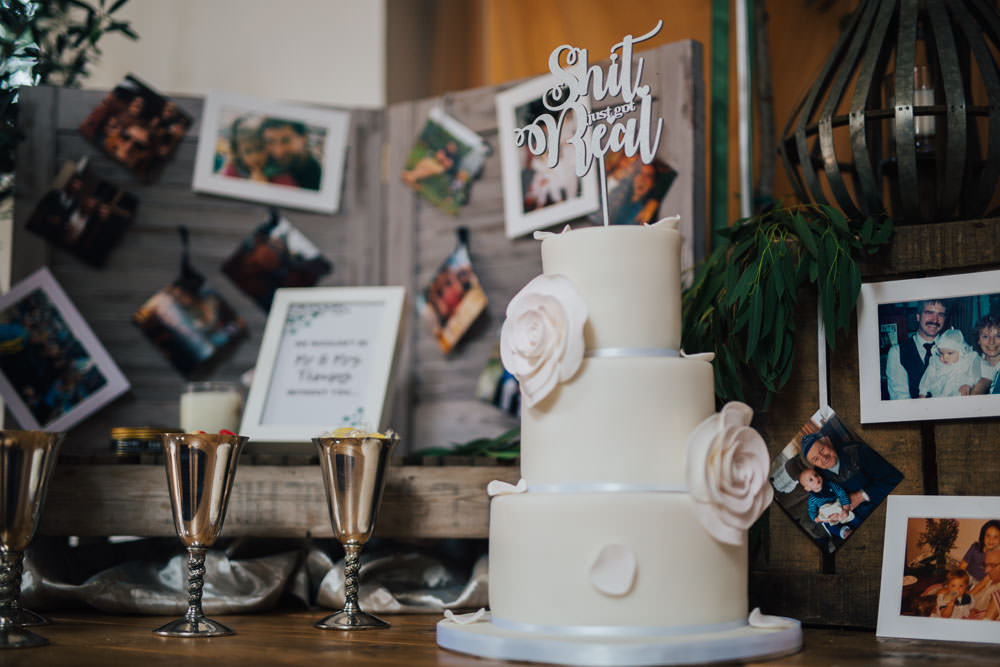 Floral Flower Cake Personalised Topper Monmouth Priory Wedding Loveseen Photography