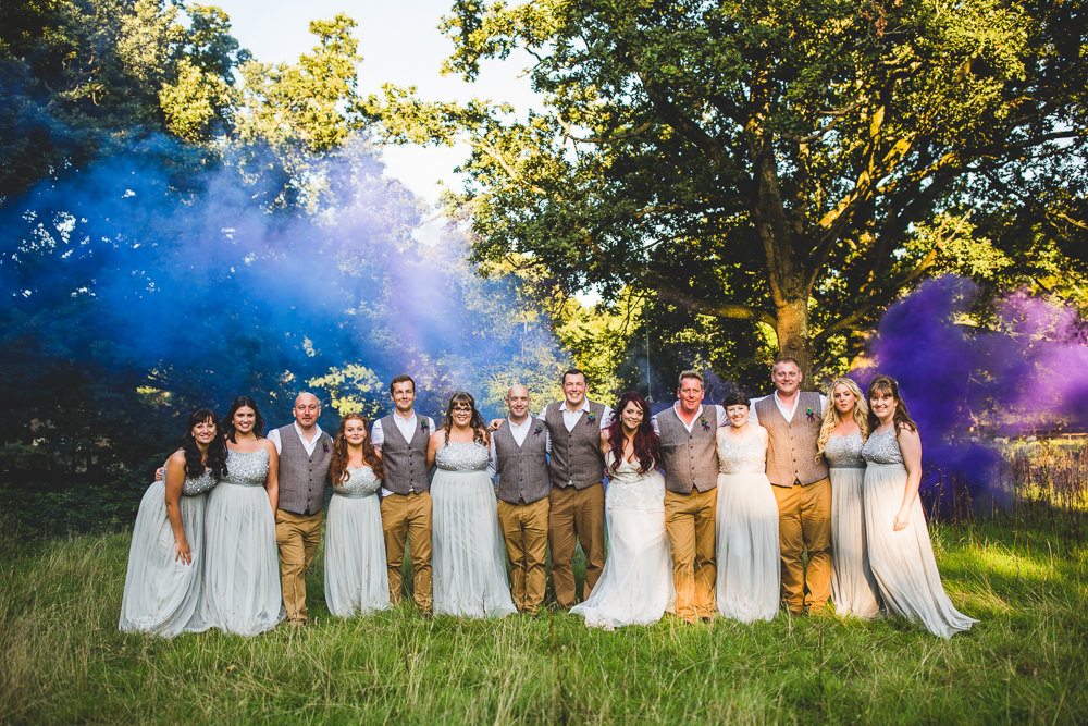 Magical Woodland Tipi Wedding with Smoke Bombs