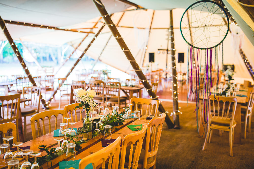 Tipi Wooden Table Chair Dreamcatchers Moors Valley Country Park Wedding Livvy Hukins Photography