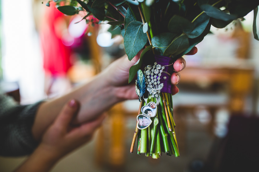 Bouquet Memory Locket Moors Valley Country Park Wedding Livvy Hukins Photography