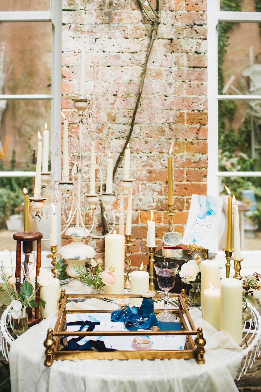 Table Decor Candles Tray Gold Orangery Wedding Ideas Cat Lane Weddings
