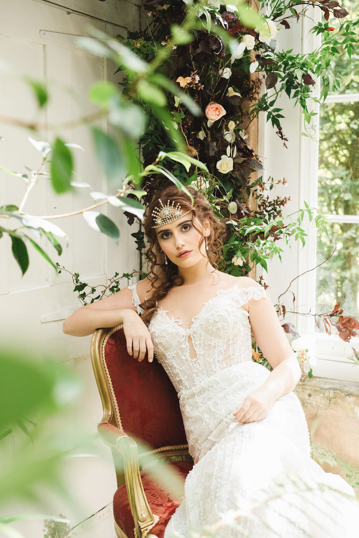 Bride Bridal Dress Gown Lace Orangery Wedding Ideas Cat Lane Weddings