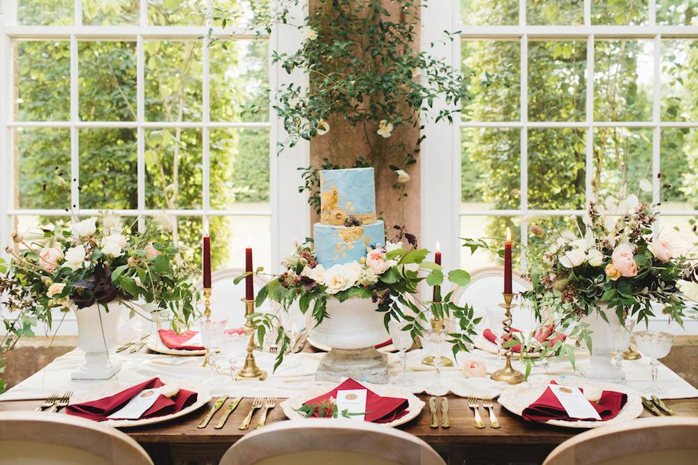 Tablescape Decor Flowers Greenery Foliage Candles Decor Gold Orangery Wedding Ideas Cat Lane Weddings