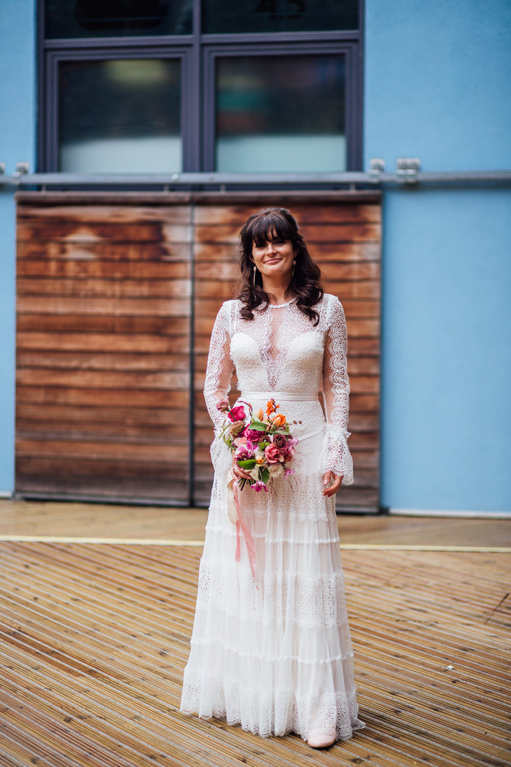 Lace Dress Gown Bridal Bridal Sleeves Catherine Deane Paintworks Wedding Matt Willis Photography