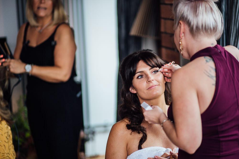 Bride Bridal Make Up Paintworks Wedding Matt Willis Photography