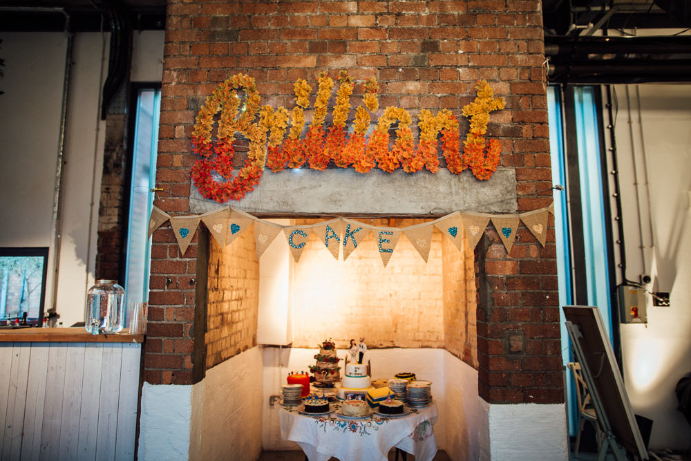 Cake Table Desserts Paintworks Wedding Matt Willis Photography