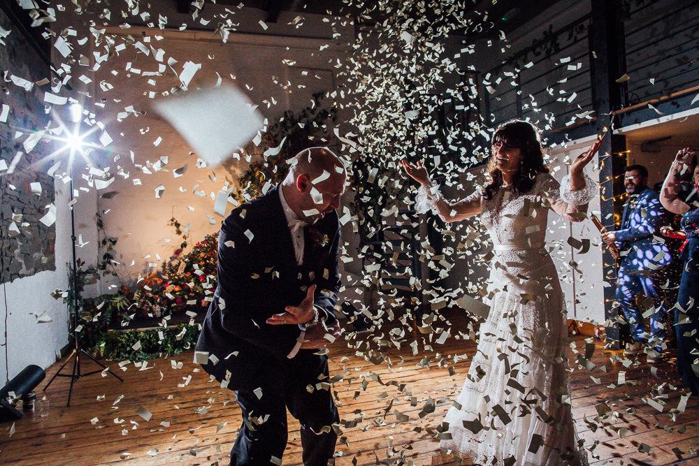 Confetti Cannon First Dance Paintworks Wedding Matt Willis Photography