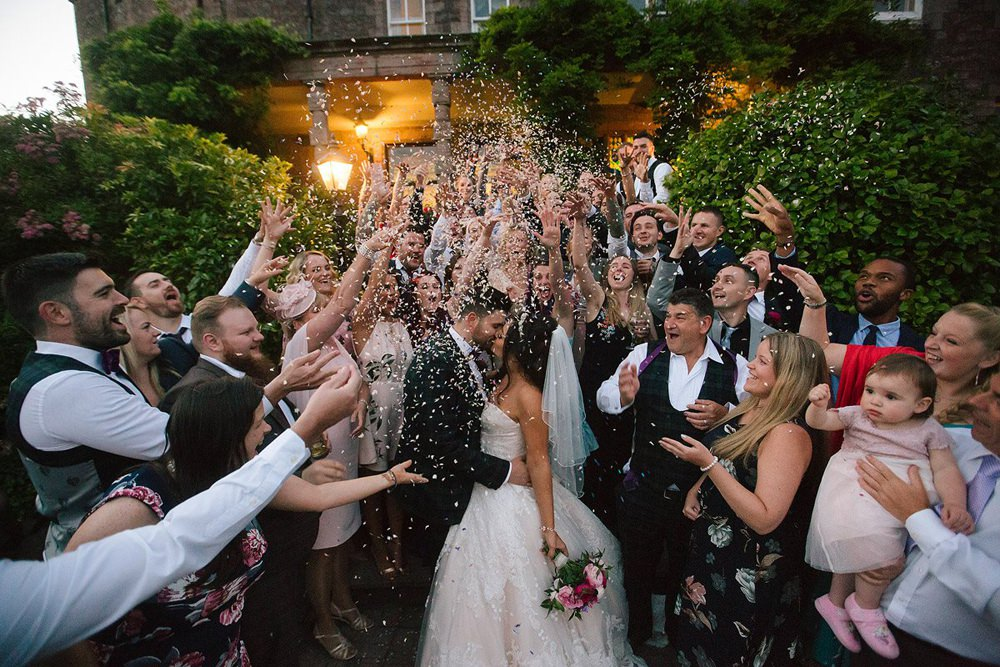 Wedding Confetti Throw Photographer - Johnboy Wilson