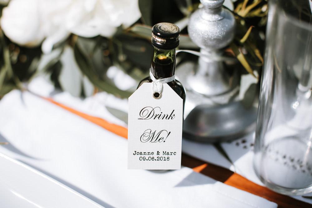 Drink Me Favour Miniature Portugal Destination Wedding Ana Parker Photography