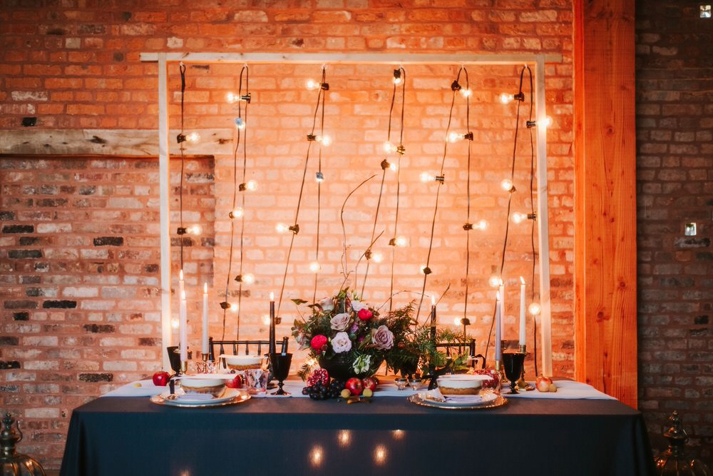Festoon Lights Lighting Backdrop Top Table Romantic Wedding Ideas Neon Lighting Kate McCarthy Photography