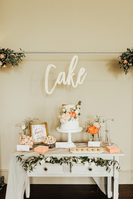 Cake Table Desserts Furniture Stubton Hall Wedding Darina Stoda Photography