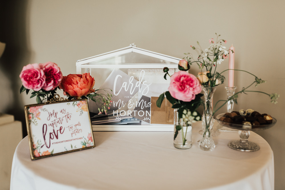 Card Terrarium Holder Box Stubton Hall Wedding Darina Stoda Photography