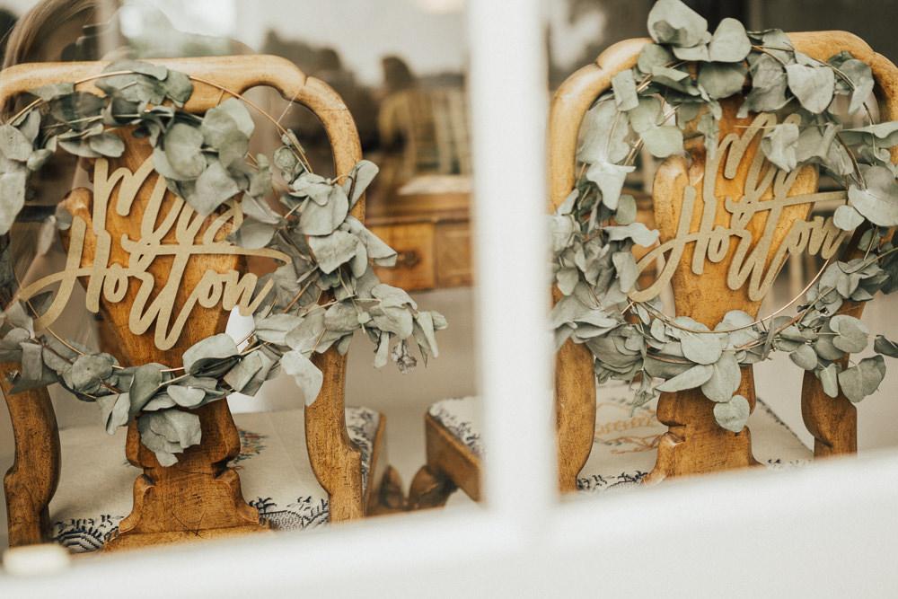 Chairs Decor Greenery Hoops Stubton Hall Wedding Darina Stoda Photography