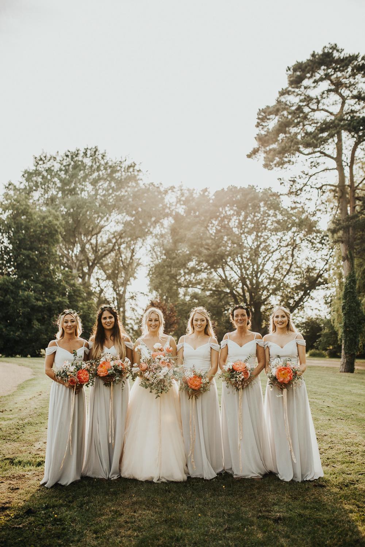 Bridesmaid Bridesmaids Dress Dresses Long Maxi Grey Stubton Hall Wedding Darina Stoda Photography