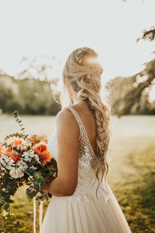 Hair Bride Bridal Long Style Up Do Plait Braid Curls Waves Stubton Hall Wedding Darina Stoda Photography