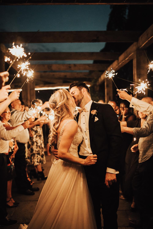 Sparklers Send Off Exit Stubton Hall Wedding Darina Stoda Photography
